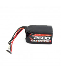 ULTIMATE 7.4v. 2500mAh LiPo HUMP RECEIVER BATTERY PACK JR - UR4452 -