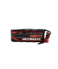 ULTIMATE 6.0v. 1800mAh NiMh FLAT RECEIVER BATTERY PACK JR - UR4455 -