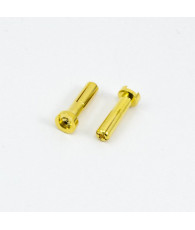 4.0mm BULLET CONNECTOR MALE (2pcs) - UR46108 - ULTIMATE