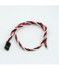 Prise Futaba femelle câble tressé (30cm) - ULTIMATE - UR46134