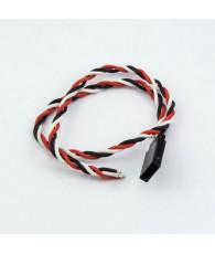 Prise Futaba male câble tressé (30cm) - ULTIMATE - UR46135