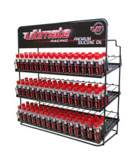 METALLIC ULTIMATE RACING OIL DISPLAY STAND W/ 135 SILICONE OILS-UR920