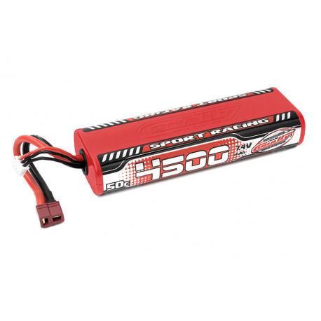 Lipo SportRacing 50C 4500mah 2S Stick - CORALLY - C-49440