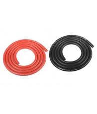 Fil Noir et Rouge 10AWG D5.5mm - 2x1m - CORALLY - C-50107