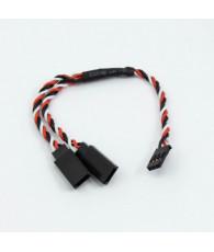 Connecteur Y Futaba câble tressé (15cm) - ULTIMATE - UR46213