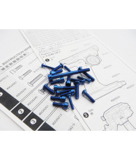 M17 Light Weight Screw Set [Y-Blue] - 48408 - HIRO SEIKO