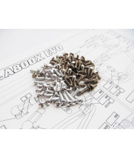 A800X EVO Titan/Alum Hex Socket Screw Set [Silver] - 48431 - HIRO SE