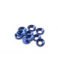 Rondelles cuvettes alu 3mm Bleu foncé - HIRO SEIKO - 69250