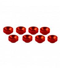 Rondelles de servos M3 - Rouge (8pcs) - ULTIMATE - UR1507-R