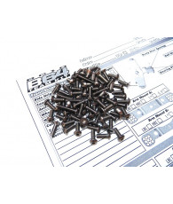 Kit de visserie titane hexagonale RC10 B64D- HIRO SEIKO - 48153