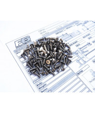 RC10F6 Titanium Hex Socket Screw Set - 48156 - HIRO SEIKO