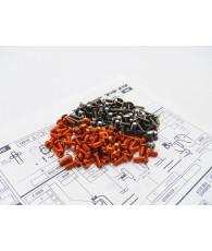 Kit visserie titane/alu hexagonale T4'19 Orange - HIRO SEIKO - 48396