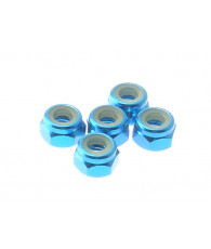 4mm Alloy Nylon Nut [TAMIYA-Blue] - 69225 - HIRO SEIKO