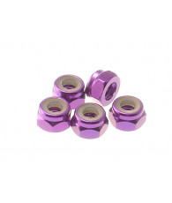4mm Alloy Nylon Nut [Purple] - 69227 - HIRO SEIKO