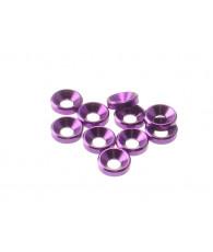 Rondelles cuvettes alu 3mm Violet - HIRO SEIKO - 69251