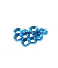 Rondelles cuvettes alu 4mm Bleu clair - HIRO SEIKO - 69255