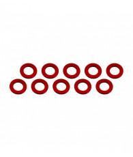 Rondelles 3x6x0.5mm - Rouge (10pcs) - ULTIMATE - UR1504-R