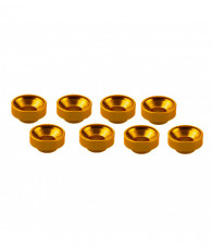 Rondelles de servos M3 - Orange (8pcs) - ULTIMATE - UR1507-G