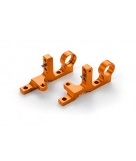 T4F ALU FRONT UPPER CLAMP (L+R) - ORANGE - 302038-O - XRAY