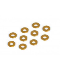 Rondelles alu oranges 3x6x1.0 mm (10) - XRAY - 303122-O