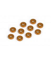 Rondelles alu oranges 3x6x2.0 mm (10) - XRAY - 303123-O