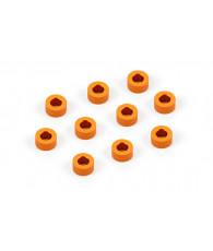 Rondelles alu oranges 3x6x3.0mm (10) - XRAY - 303125-O