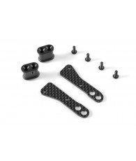 GRAPHITE CHASSIS SIDE GUARD BRACE - SOFT (2) - 321266 - XRAY