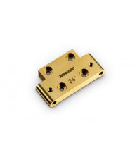 BRASS 46G FRONT LOWER ARM MOUNT 26° KICK-UP - 322312 - XRAY