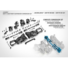 XRAY XB8/GTX C-HUB FRONT SUSPENSION CONVERSION SET - 350907 - XRAY