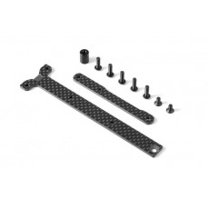GRAPHITE CHASSIS BRACE UPPER DECK - SHORT PACK (2) - 361168 - XRAY