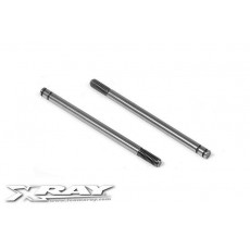REAR HARDENED SHOCK SHAFT (2) - 368260 - XRAY