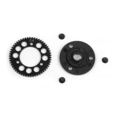 STEEL SPUR GEAR 54T / 48 + COMPOSITE SPUR GEAR ADAPTER - 385654 - XRA