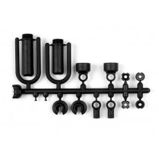 COMPOSITE FRAME SHOCK PARTS INCL. O-RINGS - 388110 - XRAY