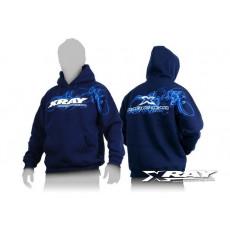 Sweat a capuche Team XRAY bleu (L) - XRAY - 395500L