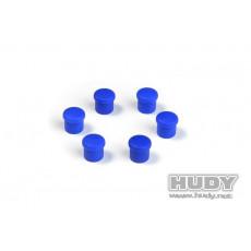 Bouchon de manche 14mm bleu (6) - HUDY - 195054-B