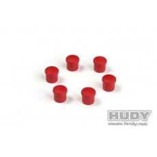 Bouchon de manche 14mm rouge (6) - HUDY - 195054-R