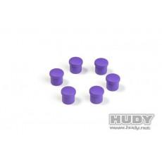 Bouchon de manche 14mm violet (6) - HUDY - 195054-V