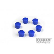 Bouchon de manche 18mm bleu (6) - HUDY - 195058-B