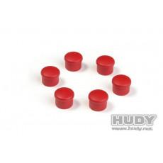 Bouchon de manche 18mm rouge (6) - HUDY - 195058-R