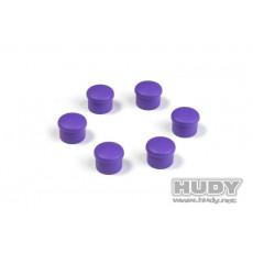 Bouchon de manche 18mm violet (6) - HUDY - 195058-V