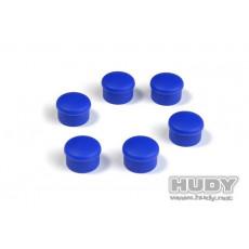 Bouchon de manche 22mm bleu (6) - HUDY - 195062-B