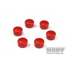 Bouchon de manche 22mm rouge (6) - HUDY - 195062-R