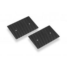 Plaques latérales carbone 0.5mm aileron 1/10 EL (2) - HUDY - 293311