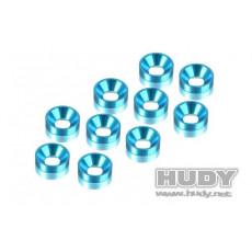 Rondelles cuvette bleue 3mm (10) - HUDY - 296510-B