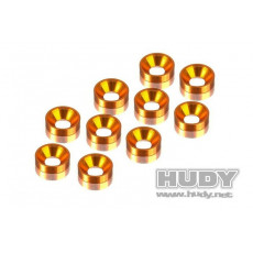Rondelles cuvette orange 3mm (10) - HUDY - 296510-O