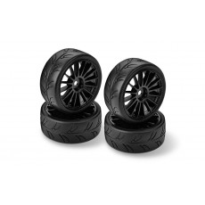 HUDY 1/10 PRE-CUT SLICK TIRES RIGHT & LEFT (2+2) - 803040 - HUDY