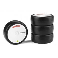 Tyres caoutchouc Attack RXA V2 - 1/10 EP touring - 36 shore - Asphalte - 4 pcs - CORALLY - C-14753-36