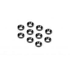 ALU COUNTERSUNK SHIM - BLACK (10) - HUDY - 296510-K