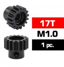 HSS STEEL M1.0 PINION GEAR 17T W/5.0mm BORE - ULTIMATE - UR4310-17