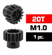 HSS STEEL M1.0 PINION GEAR 20T W/5.0mm BORE - ULTIMATE - UR4310-20